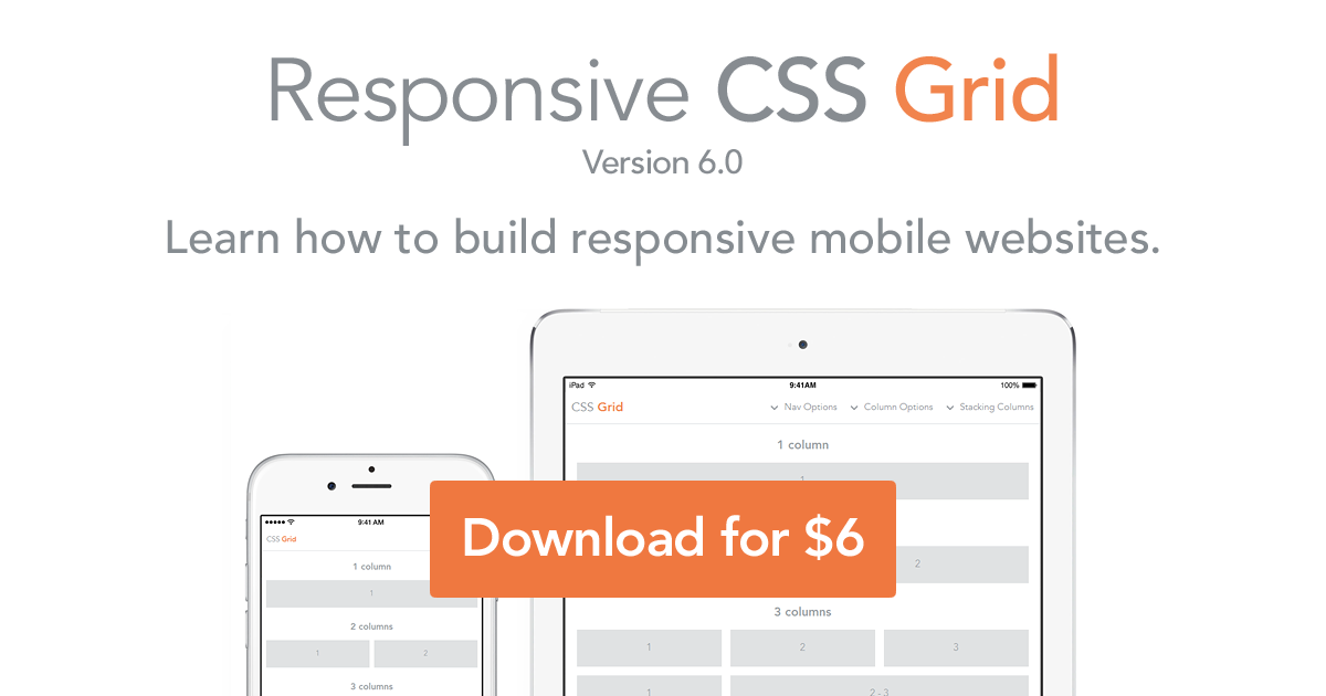 Responsive website css grid html5 learn how to build for Html css grid